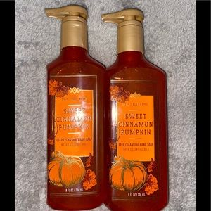 Bath and body works hand soap set